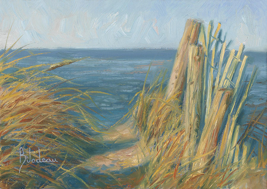 Ocean Painting - Path To The Beach by Lucie Bilodeau