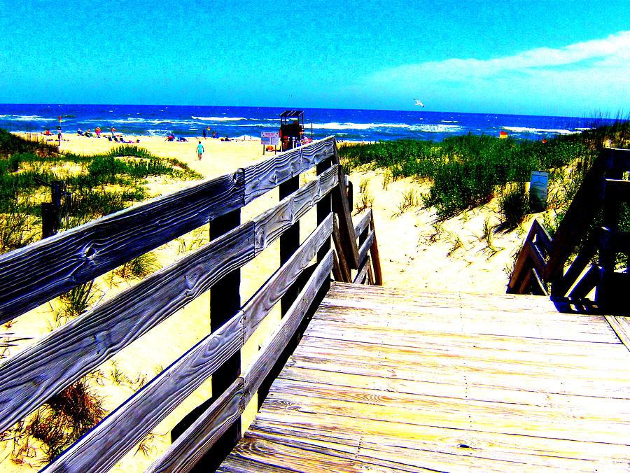 Beach Photograph - Path To The Beach by Scott Hamilton