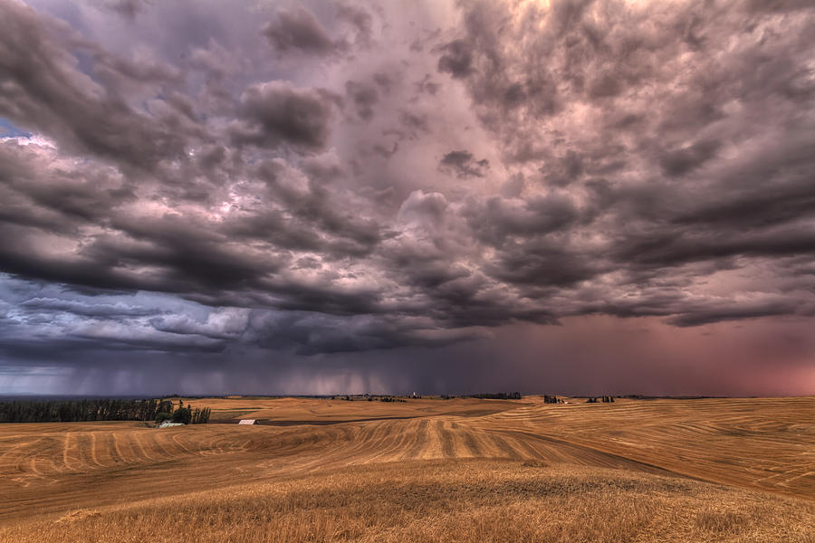 Harvest Photograph - Path To The Storm by Mark Kiver