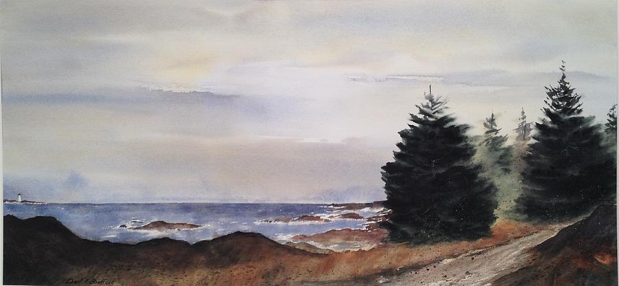 British Columbia Painting - Path To Ucluelet In Winter   Victoria Island  Bc Watercolor  by Don F  Bradford