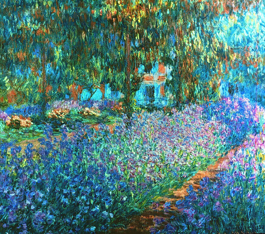 Claude Monet Painting - Pathway of Flowers by Claude Monet