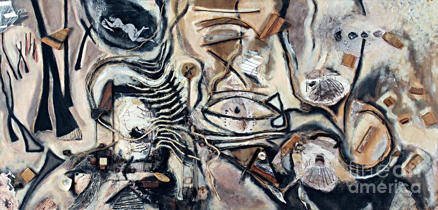 Charcoal Mixed Media - Pathway of Journeys  by Kerryn Madsen-Pietsch