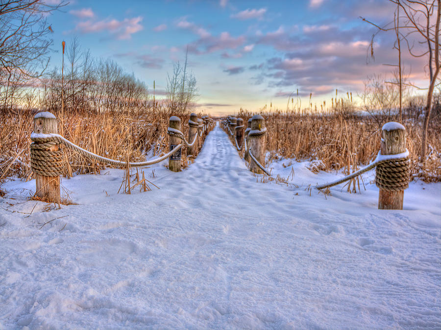 Path Photograph - Pathway To Crooked Lake by Jenny Ellen Photography