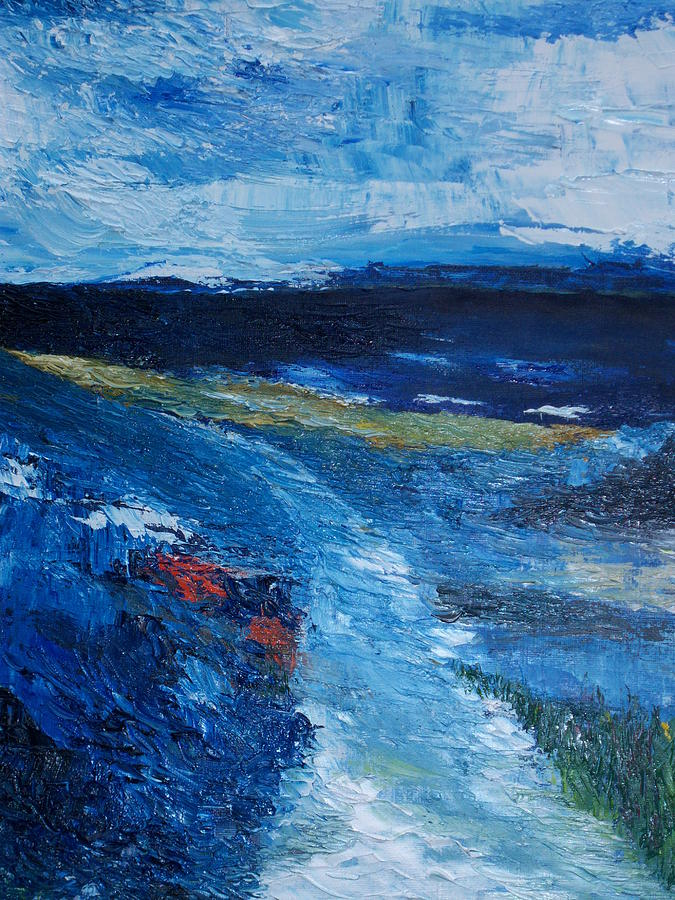 Cork Painting - Pathway  To Oysterhaven Kinsale by Conor Murphy