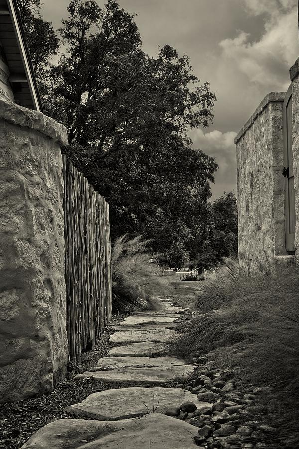 Black & White Photograph - Pathway by Wayne Kondoff
