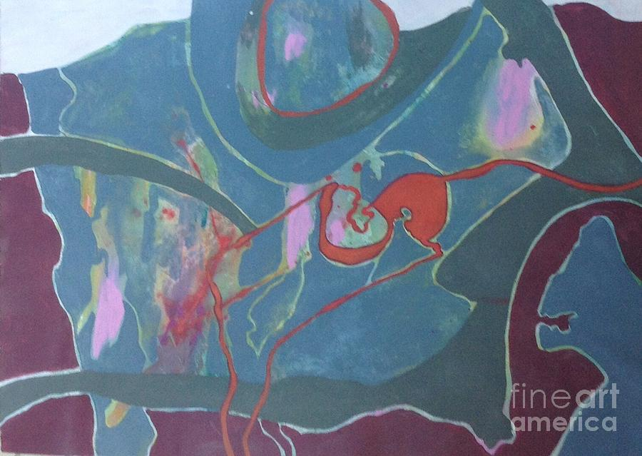 Abstract Painting - Pathways by Collette Jones