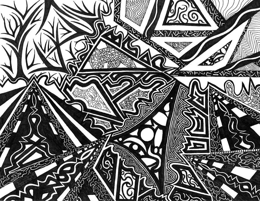 Pathways Drawing - Pathways by Kerri White