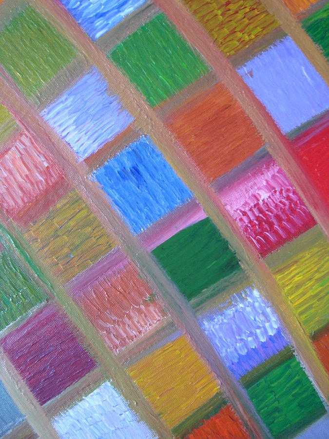 Abstract Painting - Patience And Peace by Joanna Pilatowicz