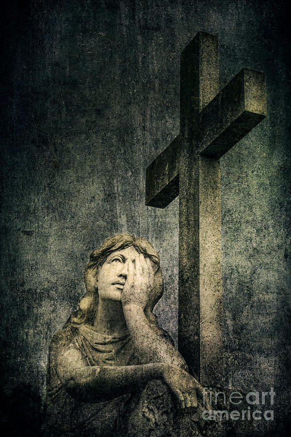 Cemetery Photograph - Patience In Pain by Andrew Paranavitana