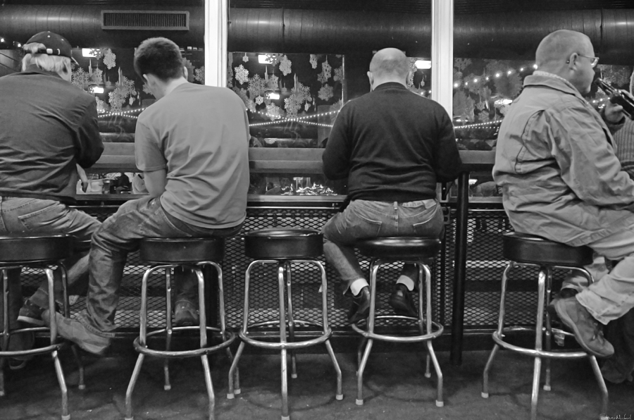 Black And White Photograph - Patiently Waiting by Steven Michael