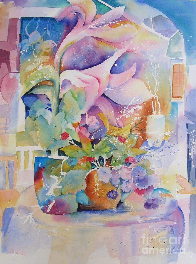 Abstract Paintings Painting - Patio Garden by John Nussbaum