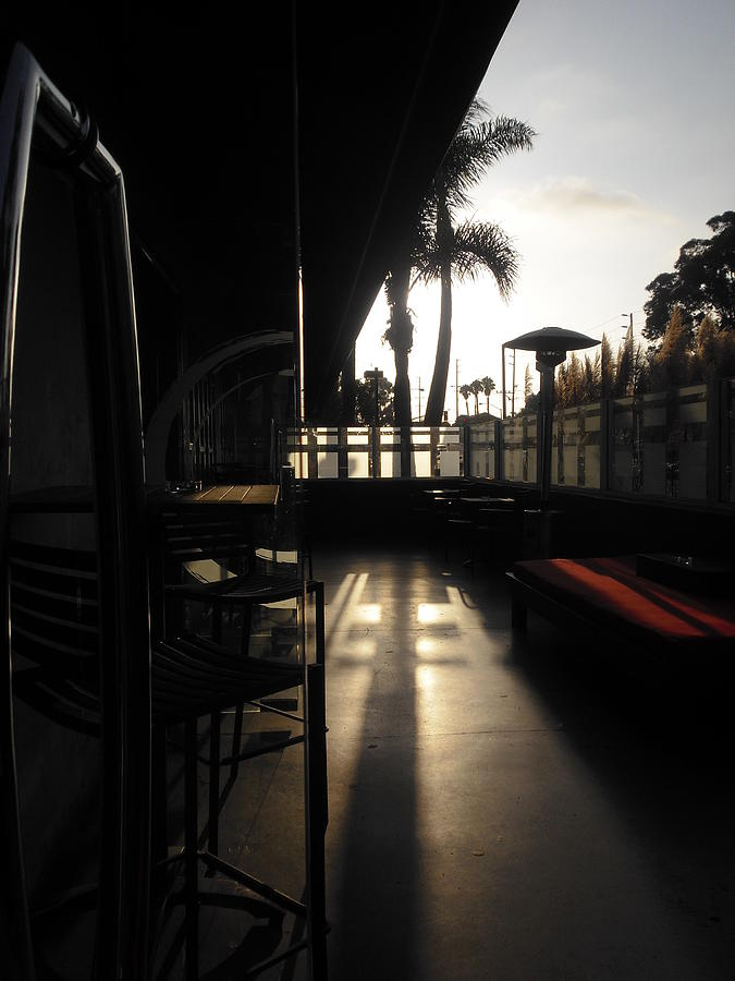 Huntington Beach Photograph - Patio Sunset by Bruce Sommer