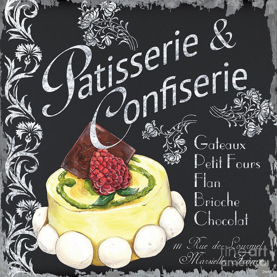 Macaroons Painting - Patisserie And Confiserie by Debbie DeWitt