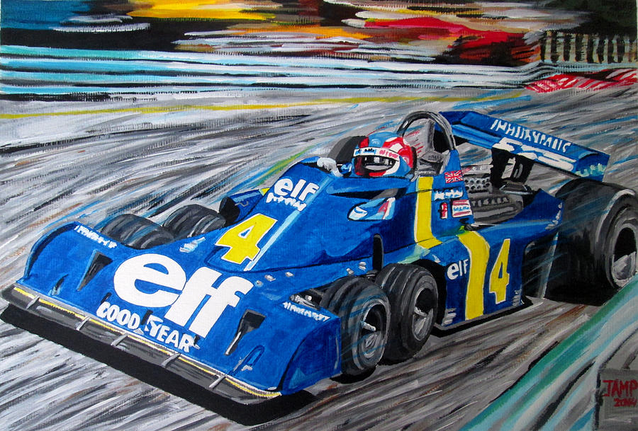 Tyrrell P34 Painting - Patrick Depailler  by Jose Mendez