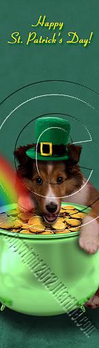 Bookmark Photograph - Patricks Day Sheltie Puppy # 383 by Jeanette K