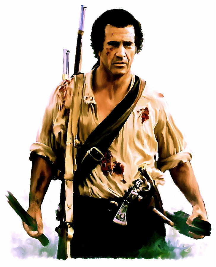 patriot mel gibson painting by iconic images art gallery david  mel gibson painting patriot mel gibson by iconic images art gallery david pucciarelli