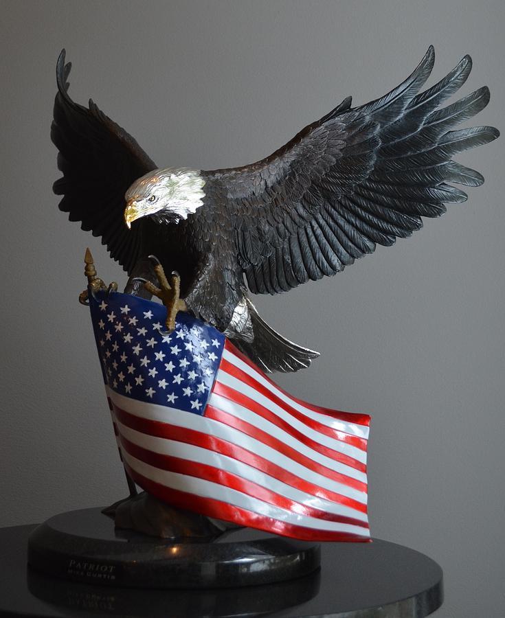 Patriotic Sculpture - Patriot by Mike Curtis