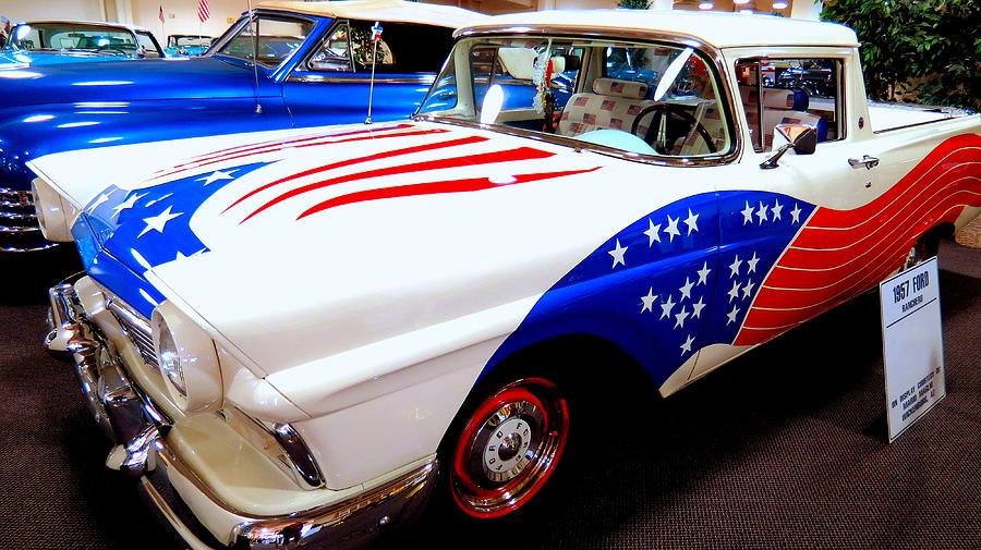 Patriotic 1957 Ford Ranchero
