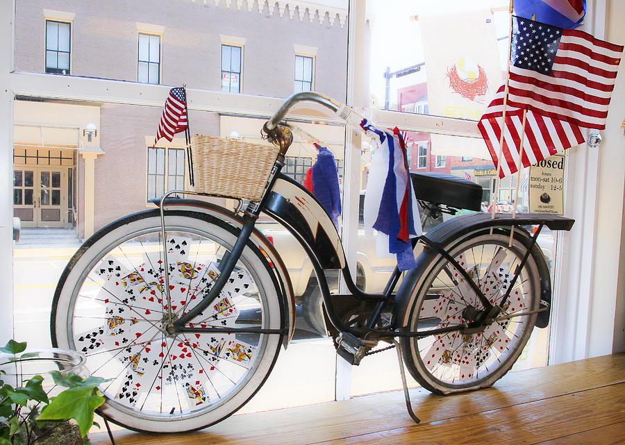 Patriotic Photograph - Patriotic Bicycle by Cindy Archbell