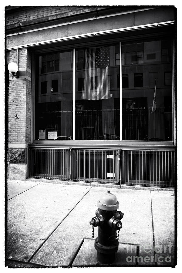 Window Photograph - Patriotic Boston by John Rizzuto