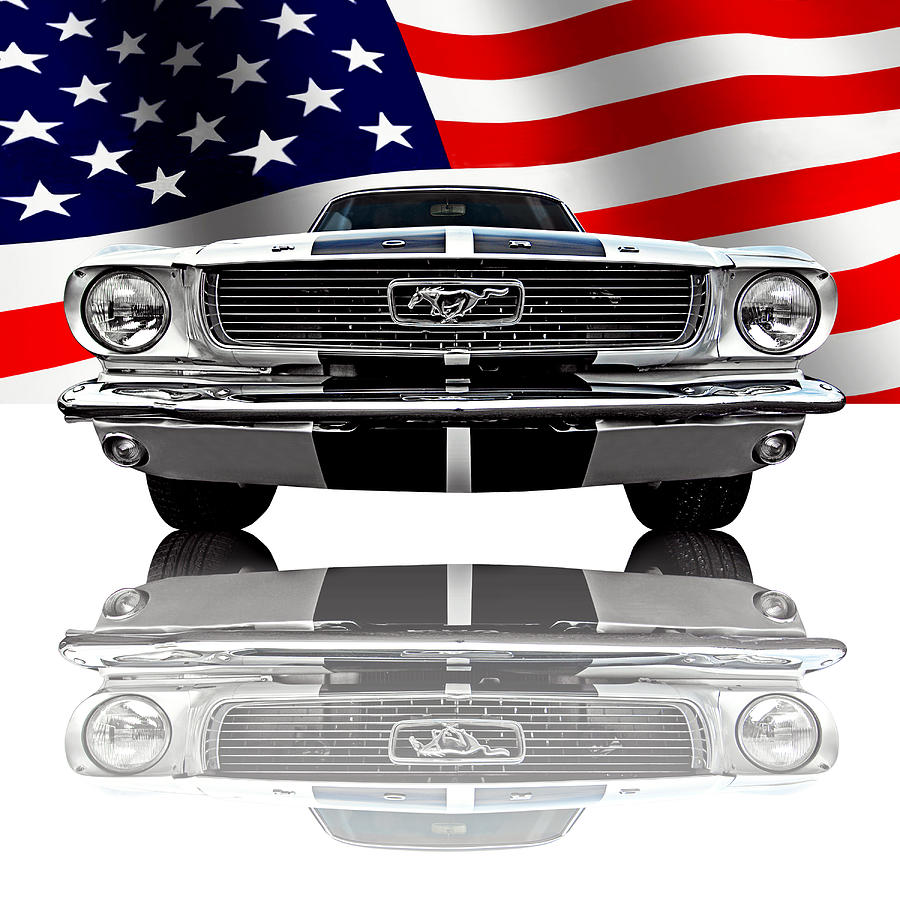 Patriotic Ford Mustang 1966 Photograph By Gill Billington