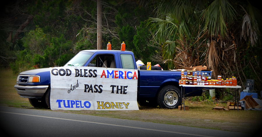 Pick-up Photograph - Patriotic Honey Salesman by Carla Parris