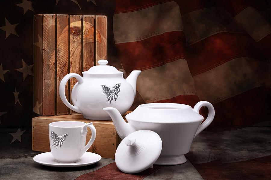 American Photograph - Patriotic Pottery Still Life by Tom Mc Nemar