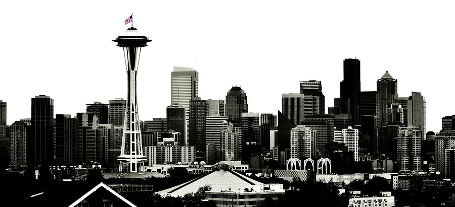 Seattle Photograph - Patriotic Seattle by Benjamin Yeager