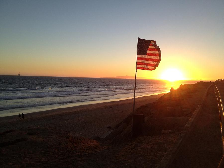 Huntington Photograph - Patriotic  by Troy Lewis