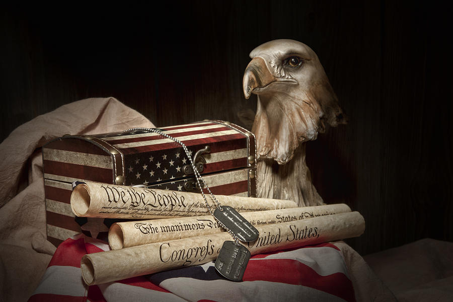 Eagle Photograph - Patriotism by Tom Mc Nemar