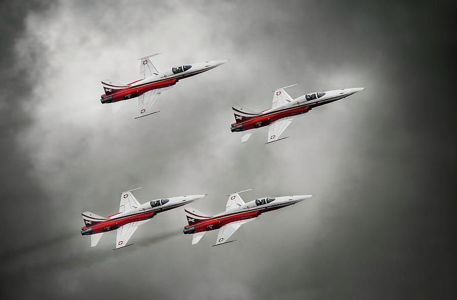 Airshow Photograph - Patrouille Suisse by Leon