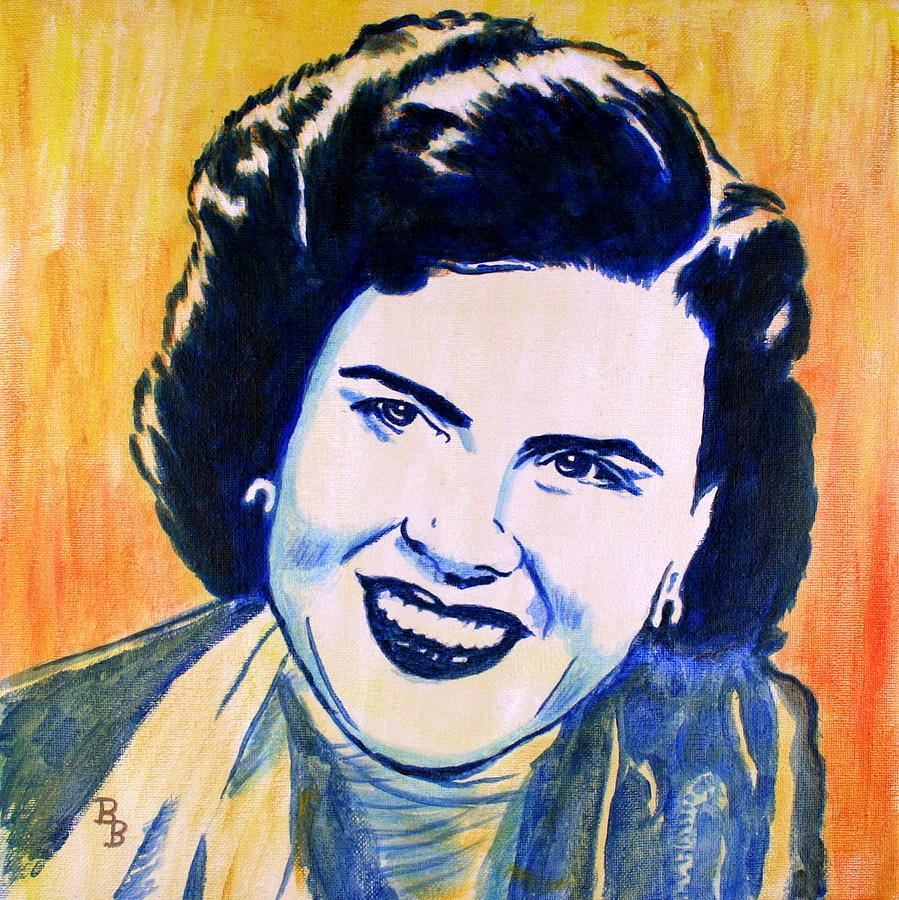 Patsy Cline Painting - Patsy Cline Pop Art Painting by Bob Baker