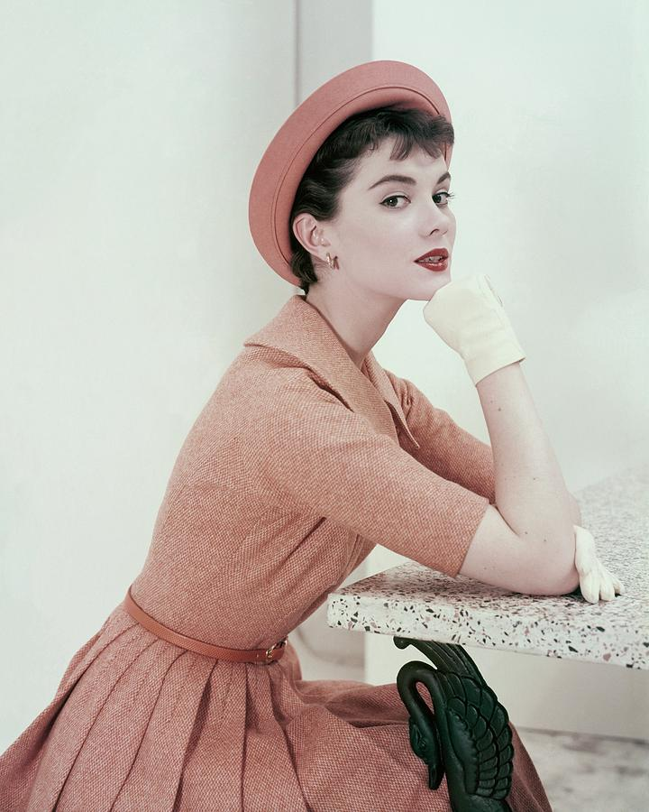 Patsy Shalley In An Orange Tweed Dress Photograph by Frances McLaughlin-Gill