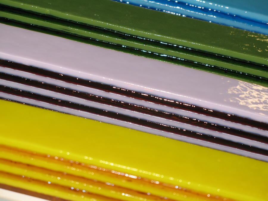 Fused Glass Art - Pattern Bars by Steven Schramek