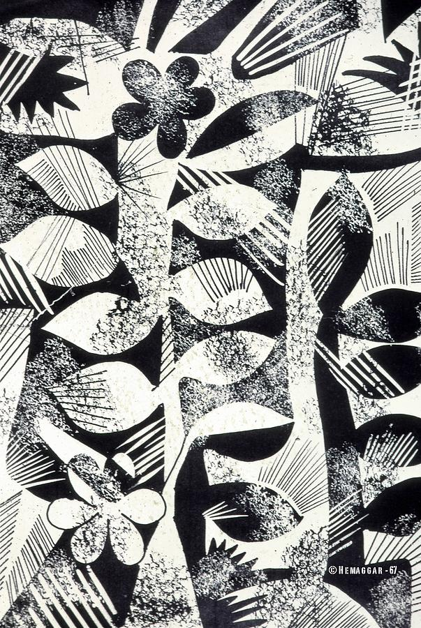 Black And White Drawing - Pattern by Hemu Aggarwal