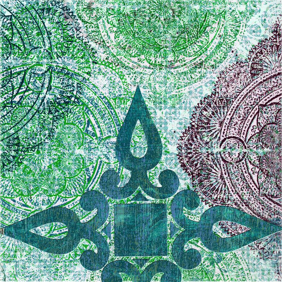 Pattern Digital Art - Pattern In Blue IIi by Marilu Windvand