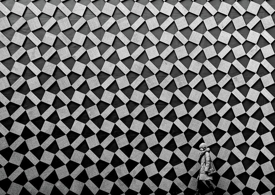 Bw Photograph - Pattern by Koji Tajima