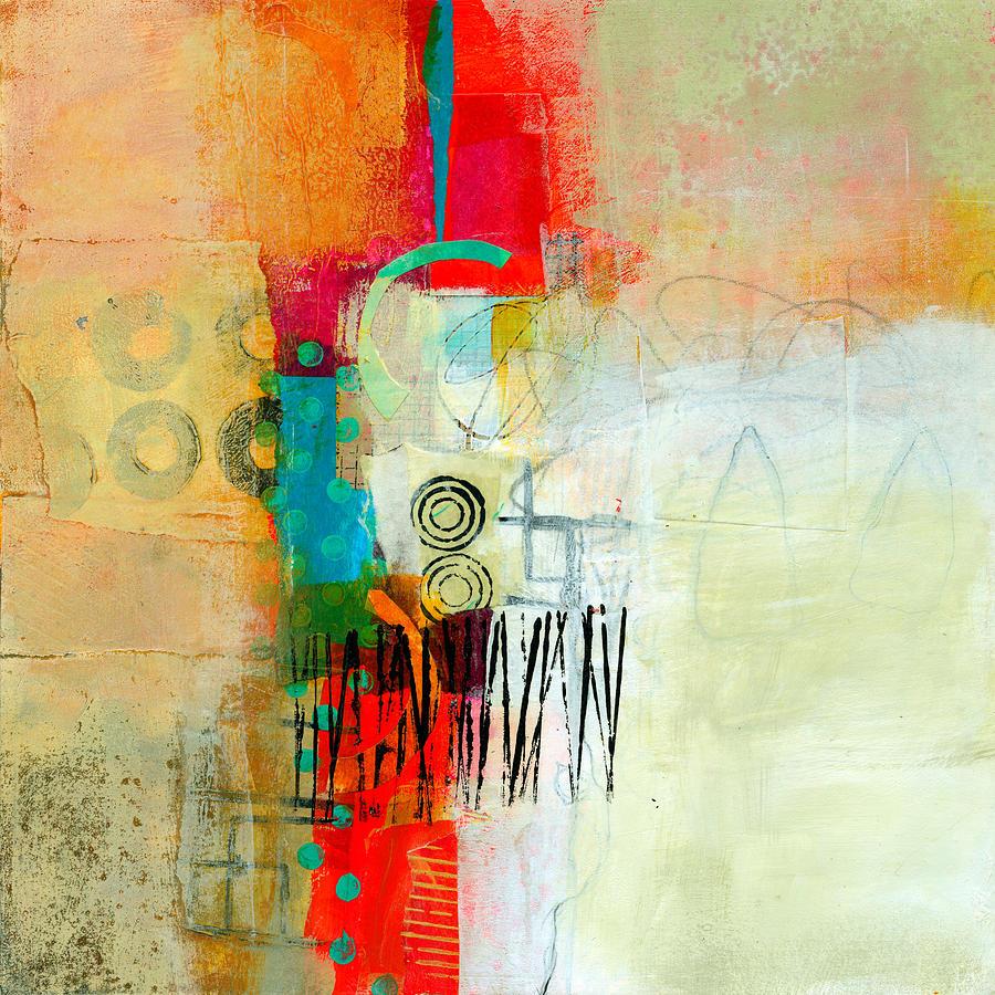 Acrylic Painting - Pattern Study #1 by Jane Davies