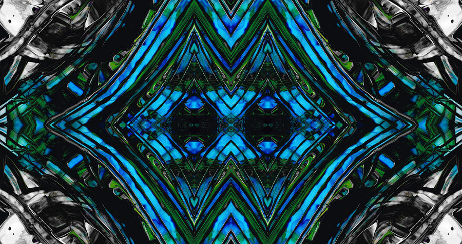 Blue Painting - Patterned Art Prints - Cool Change - By Sharon Cummings by Sharon Cummings
