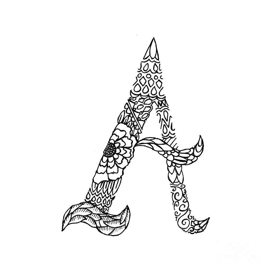 Patterned letter a