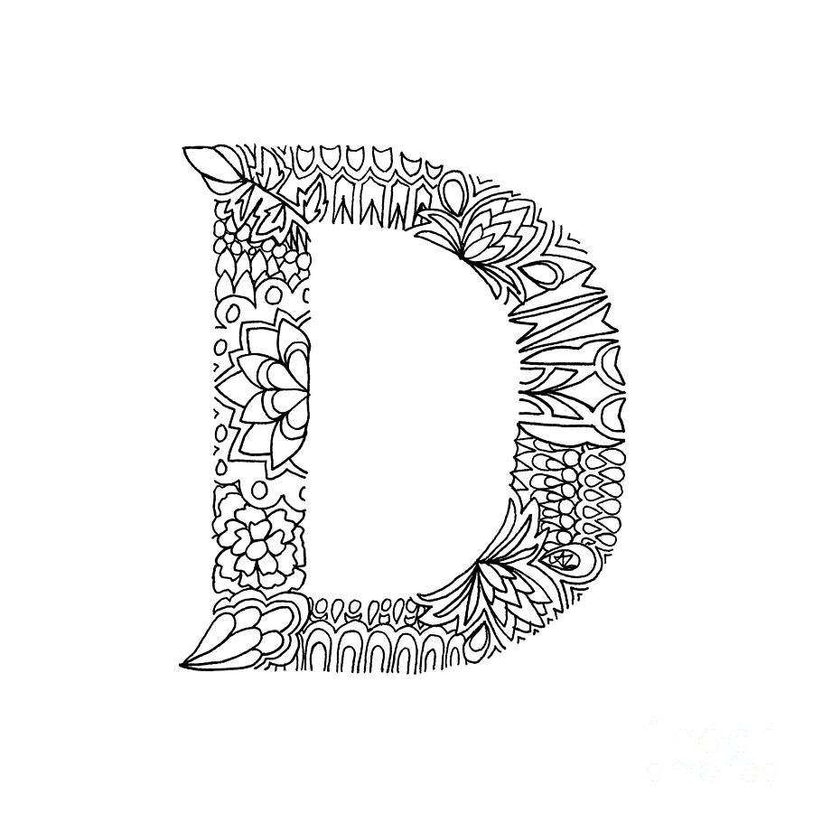 Detailed Alphabet Coloring Pages : Detailed coloring pages of letters best free