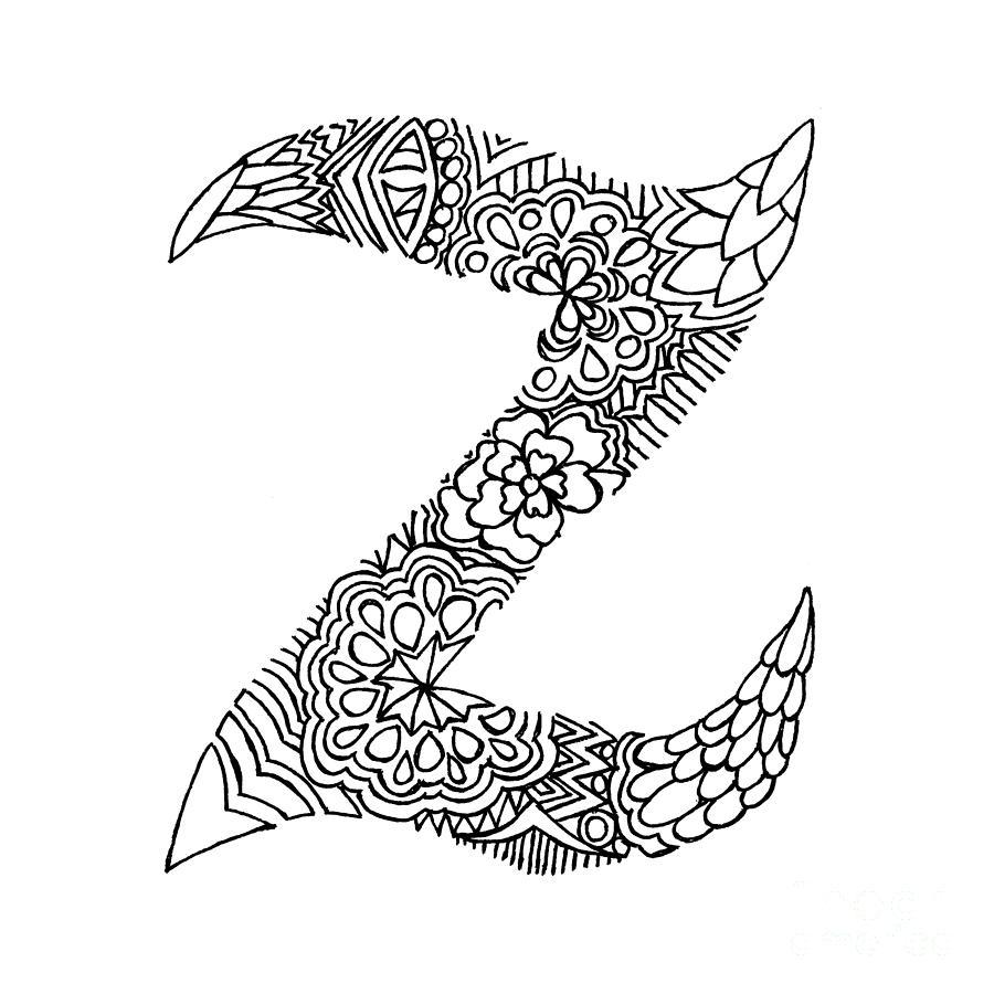 Letter Z Pictures.Patterned Letter Z