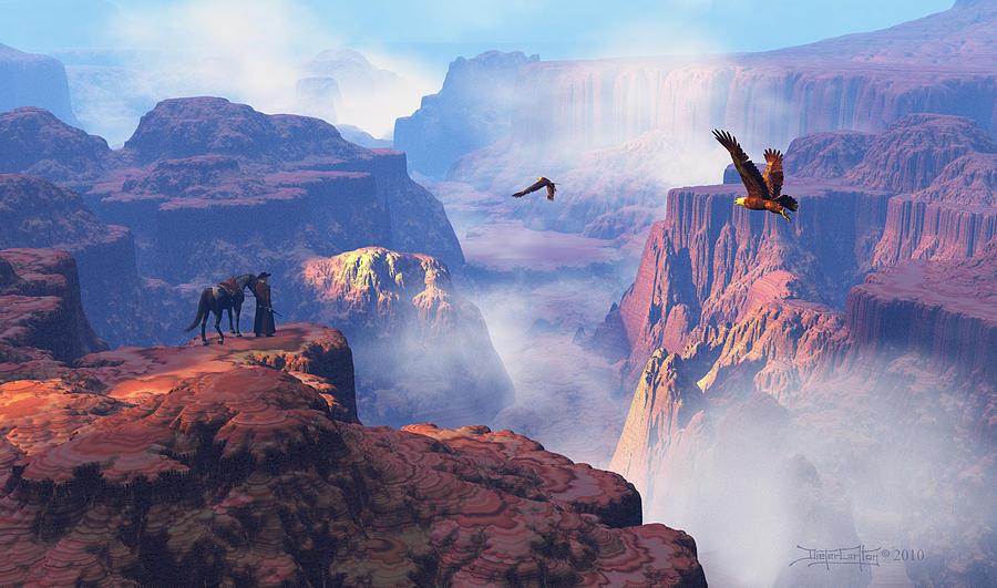 Eagle Digital Art - Patterns Of Grandeur by Dieter Carlton