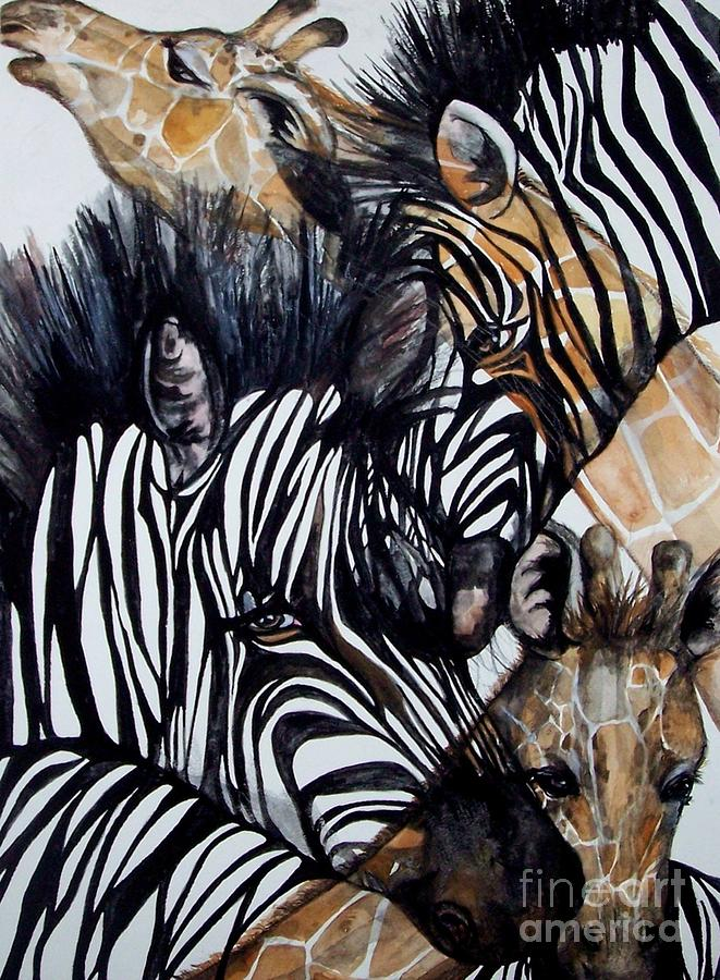 Zebra Painting - Patterns Of Nature by Laneea Tolley