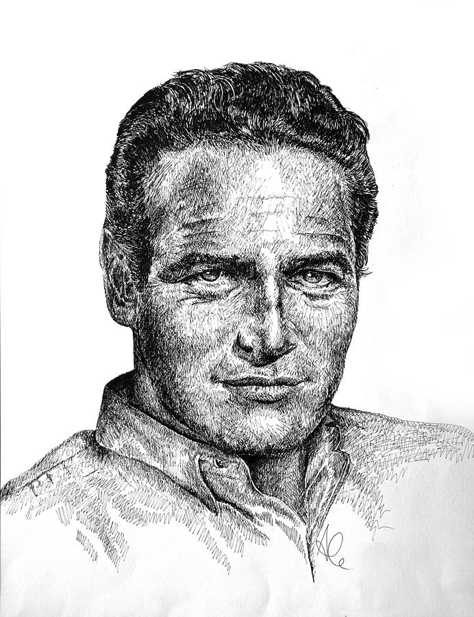 Paul Newman Drawing - Paul by Alessandro Della Pietra