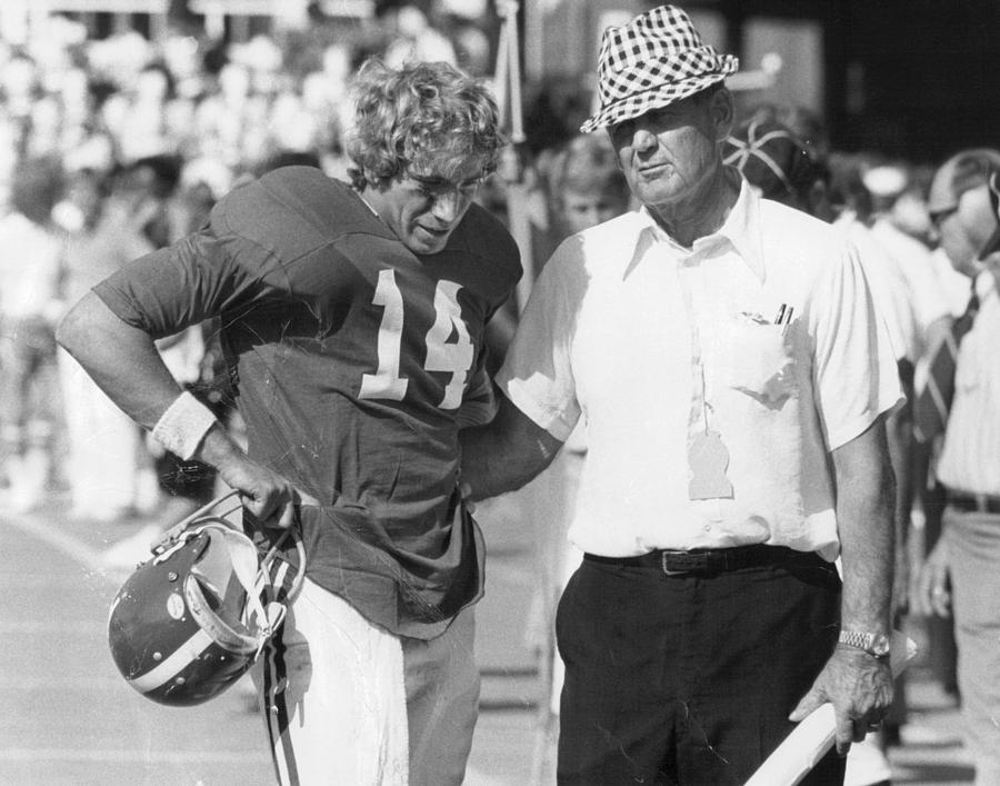 Alabama Photograph - Paul Bear Bryant - Alabama Football by Retro Images Archive