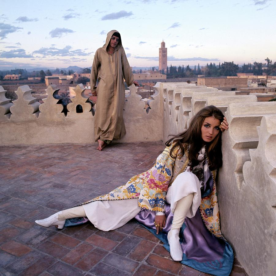 Paul Getty Jr And Talitha Getty On A Terrace Photograph by Patrick Lichfield