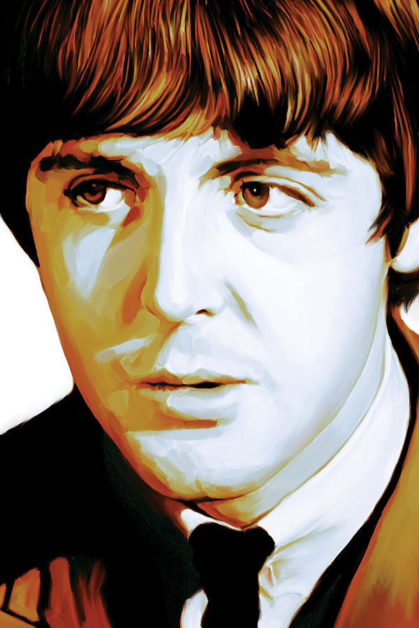 paul mccartney artwork painting by sheraz a. Black Bedroom Furniture Sets. Home Design Ideas