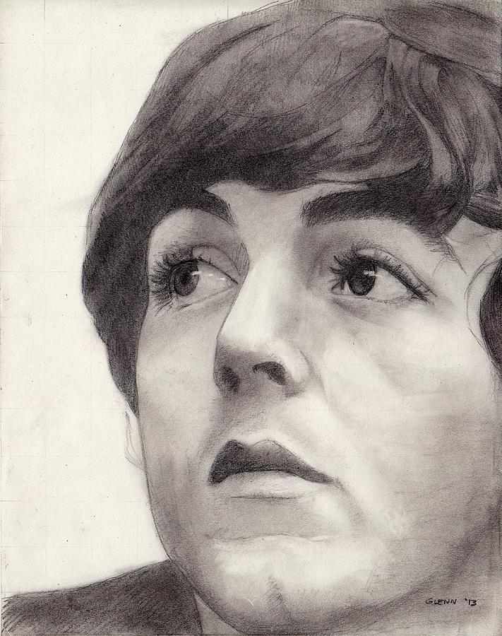 Portrait Drawing - Paul Mccartney by Glenn Daniels