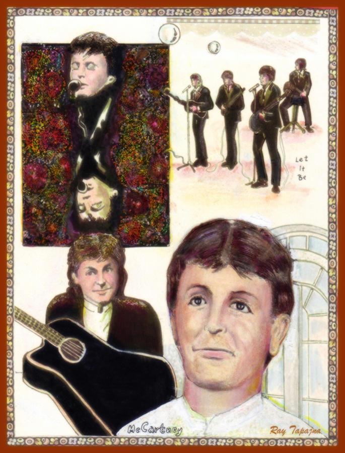 Paul Mccartney Mixed Media - Let It Be Paul McCartney by Ray Tapajna